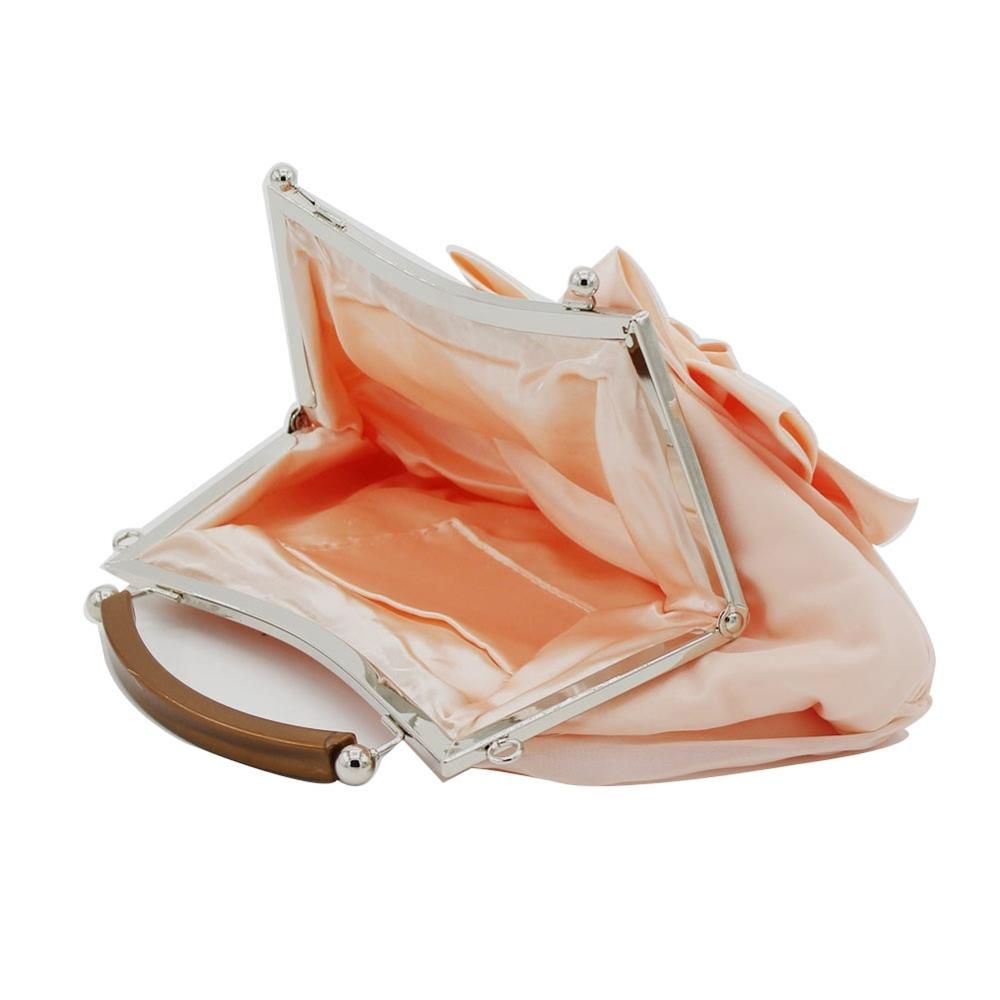 New Arrival Solid Bag Soft Party Top Solid Bag Hasp Wristlets Women Diamond Satin Flower Evening Tote