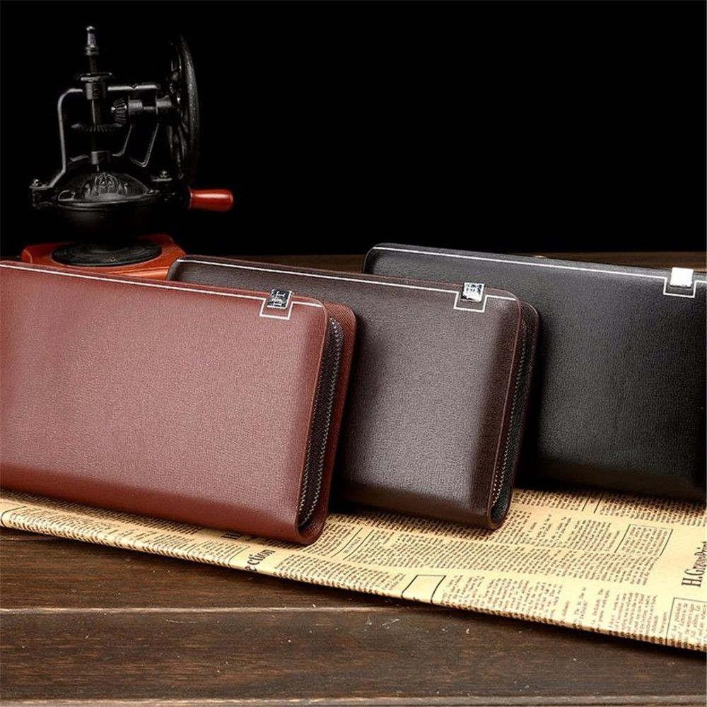 Men's Wallet Long Section of Young Wallet Zipper Men's Bag Handbag Large Capacity Wallet