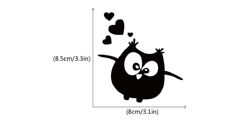 Dsu cute owl vinyl switch sticker creative cartoon animal vinyl wall decal for kids room