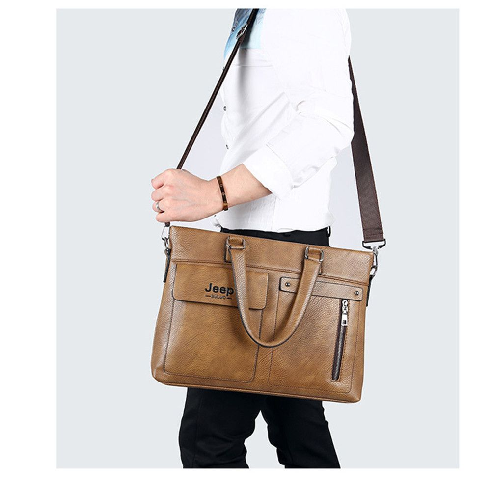 single shoulder slope across business briefcase