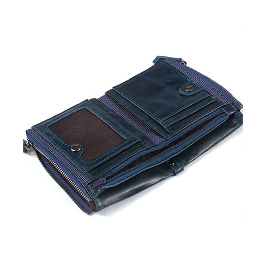 Anti-Theft Brush Leather Short Men's Wallet