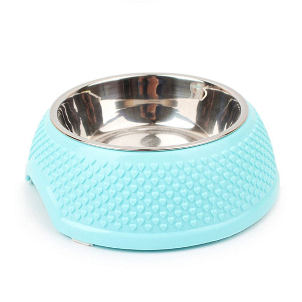 Stainless Steel Plastic Dog Food Bowl