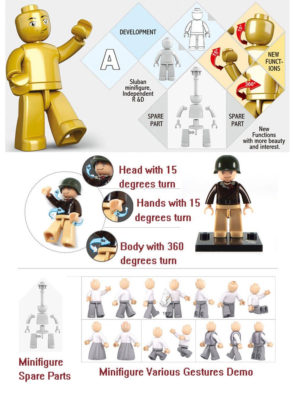 Sluban Building Blocks Educational Kids Toy Skate Boy 23PCS
