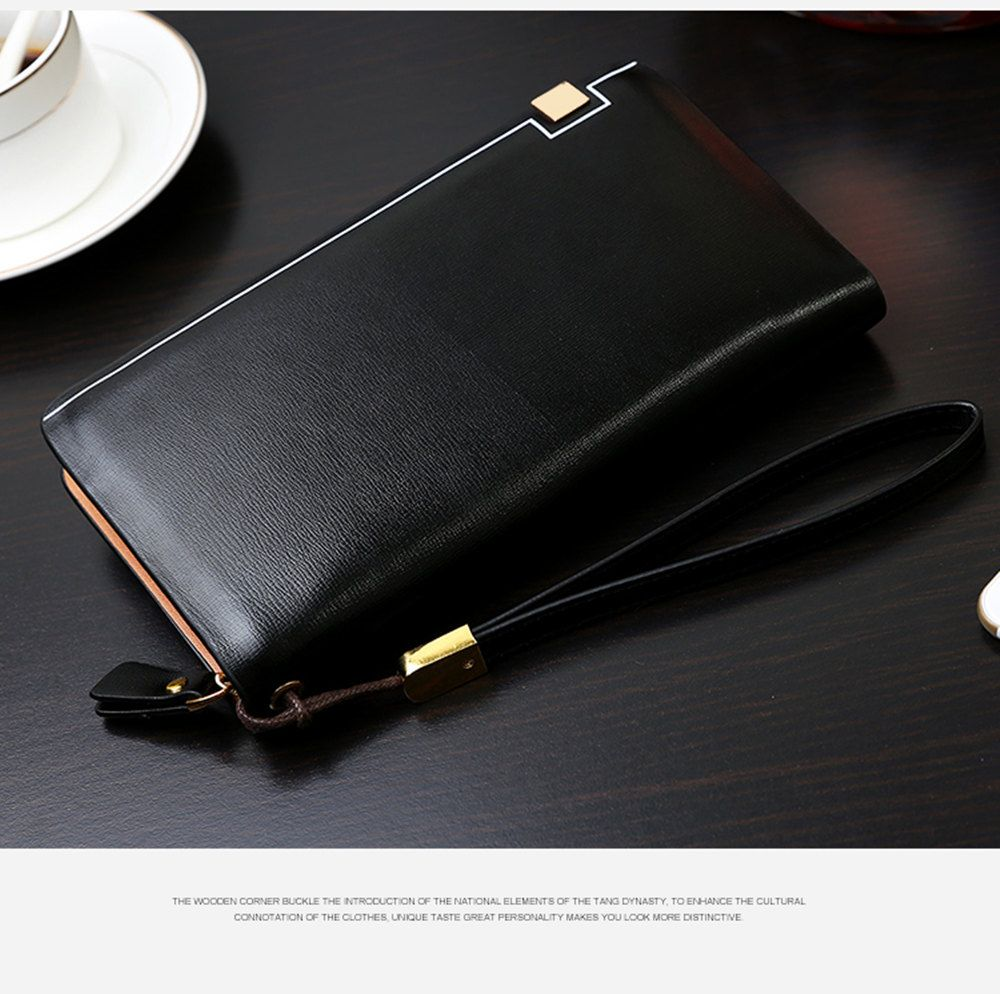 Men'S Wallet Man'S Large Capacity Clutch Bag