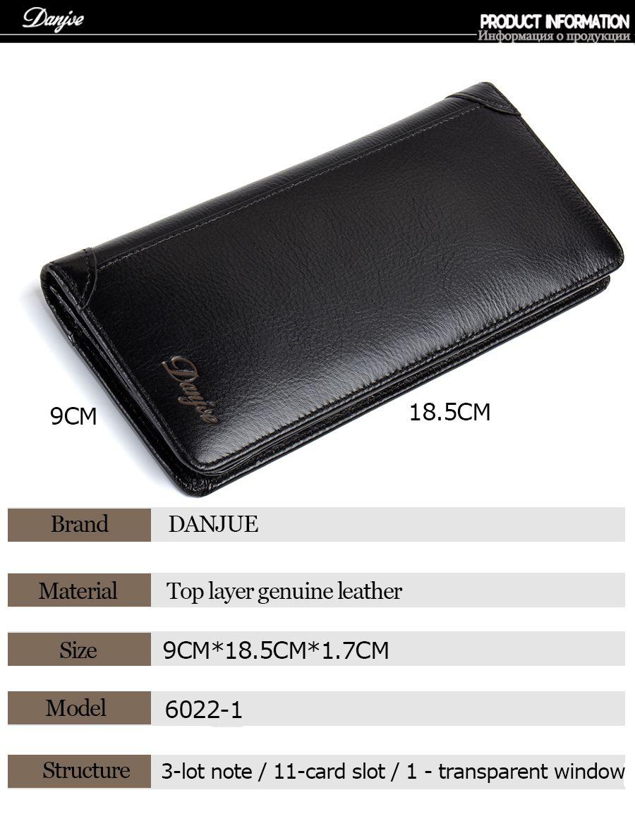 DANJUE Men'S Wallets Genuin Phone Wallet