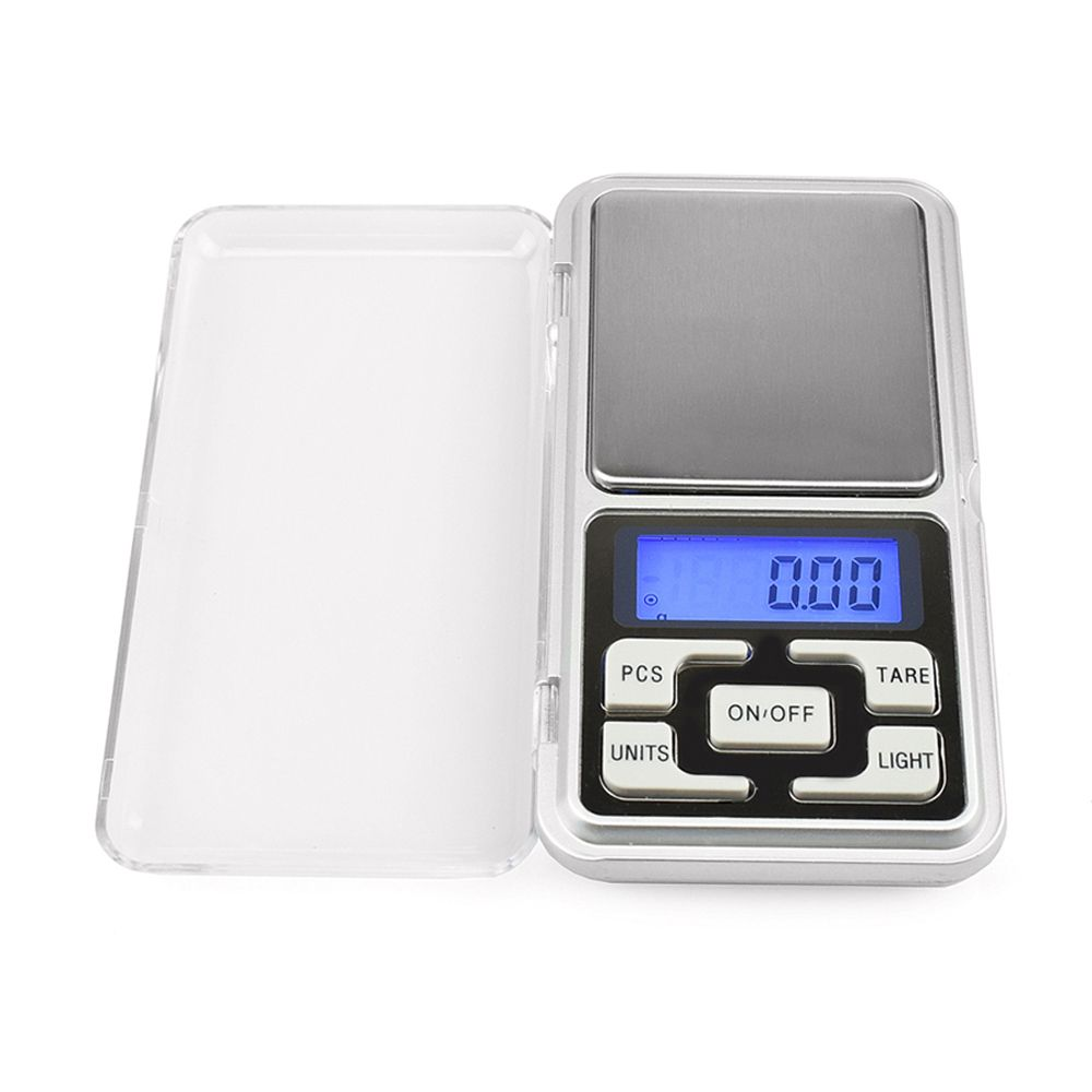 500g/0.1g Mini Electronic Digi Mini Electronic Digital Pocket Scale Jewelry Weighing Balance Counting Function Blue LCD