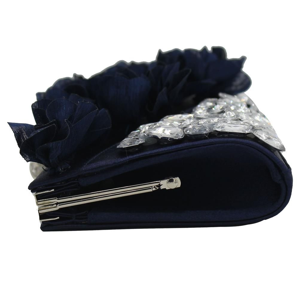 2018 Direct Selling Top Women Floral Hasp Diamond Satin Flower Evening Clutch Bag