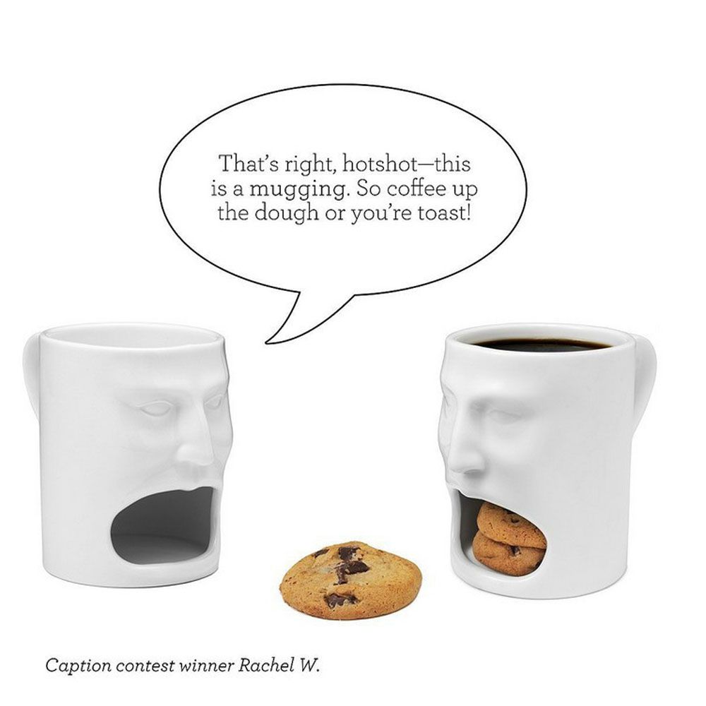 Creative Face Cookie Ceramic Mug