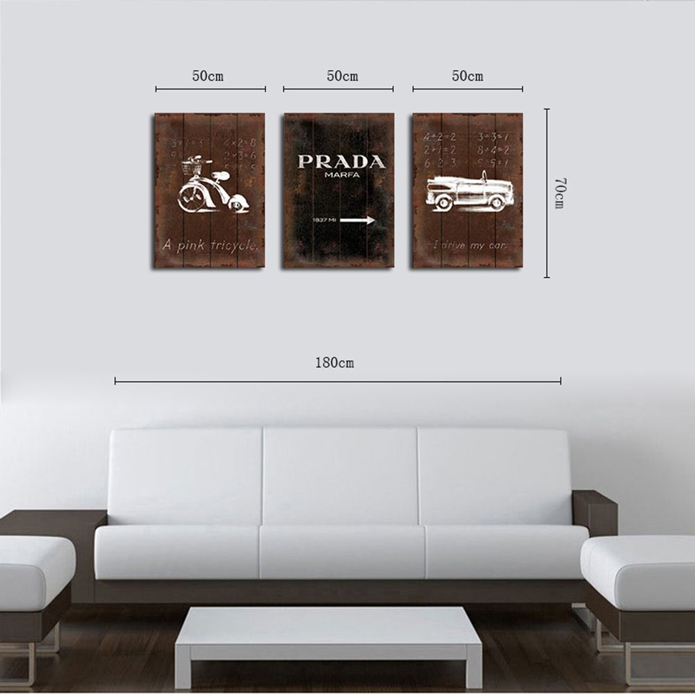 QiaoJiaHuaYuan No Frame Canvas Three Pieces of the Drawing Room Sofa Background Decoration Hanging Painting Now Contract