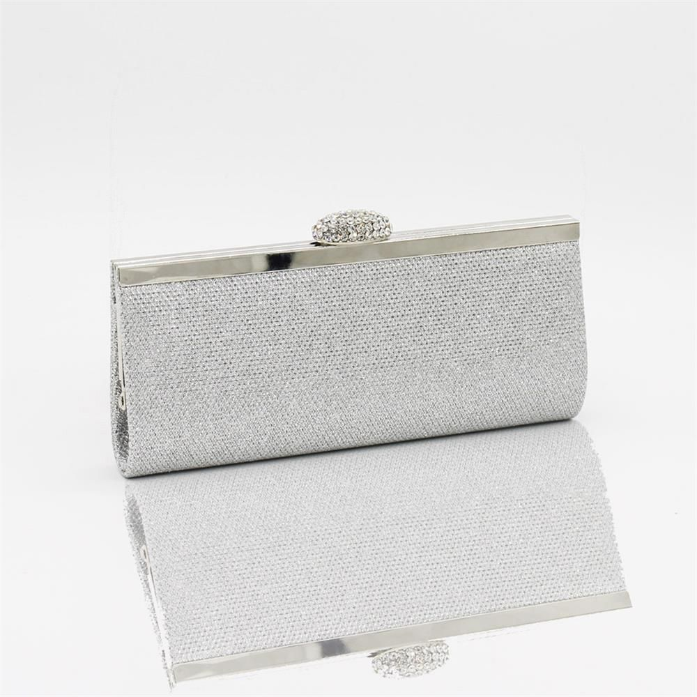 Women Bags pu Evening Bag for Event Party Silver Golden