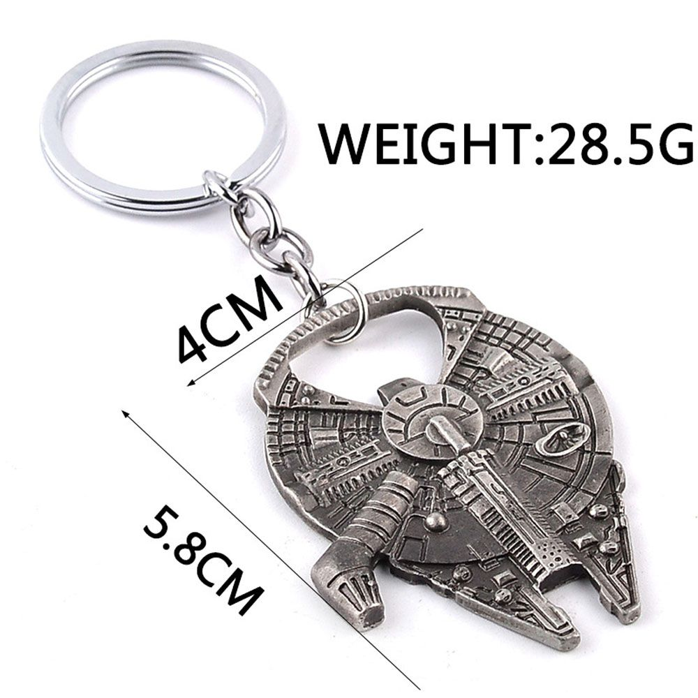 Dual-Use Spacecraft Car Key Chain Opener