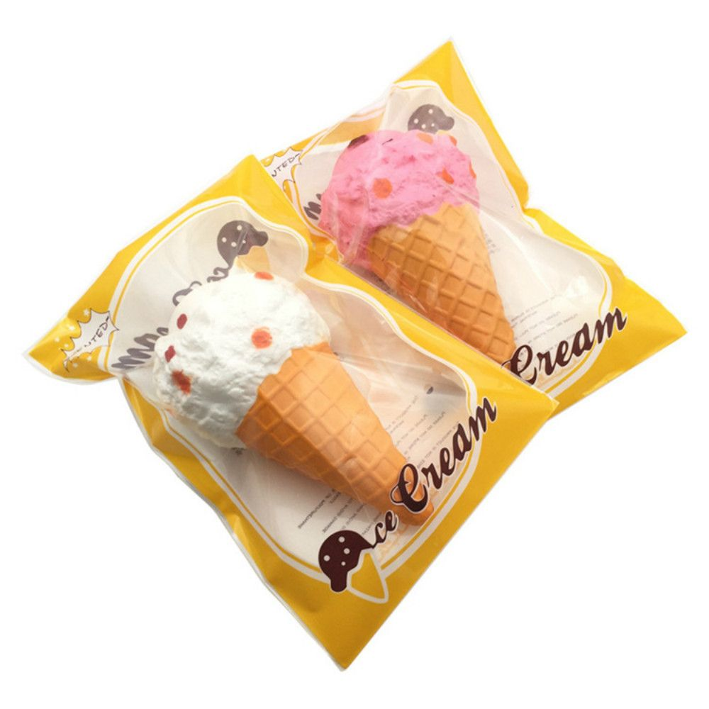 Funny Squishy Toy Made By Enviromental PU Material Replica Big Ice Cream for Different Age Group