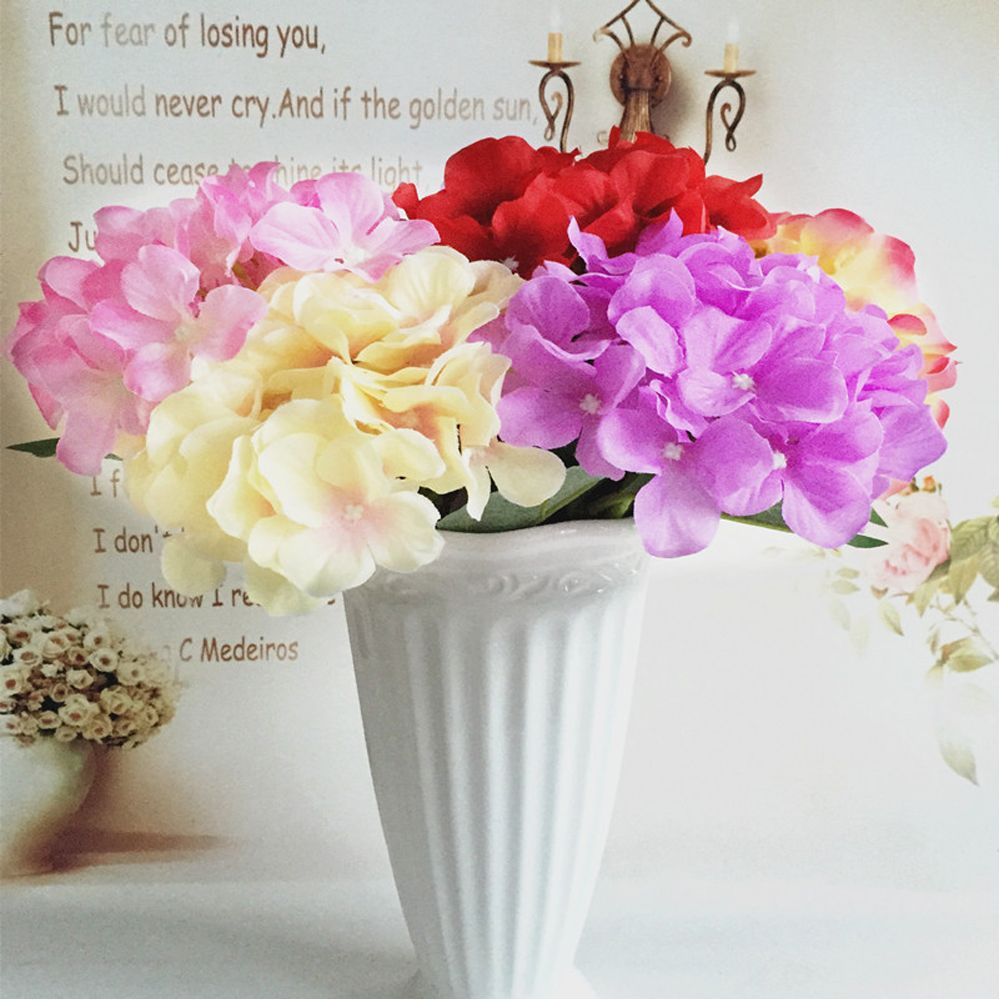 5 PCS Simulation Flower Artificial Flower Single Branch Christmas Wedding Decoration Table Accessories