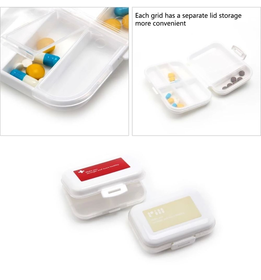 A Portable Medicine Box, A Portable Medicine Box, A Weekly Travel Pill Box