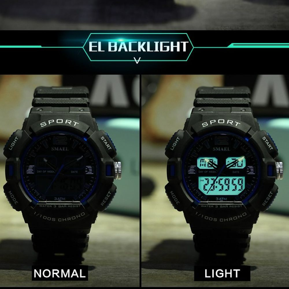 SMAEL 1343 Fashion Multi-function Waterproof LED Electronic Watch Outdoor Sport