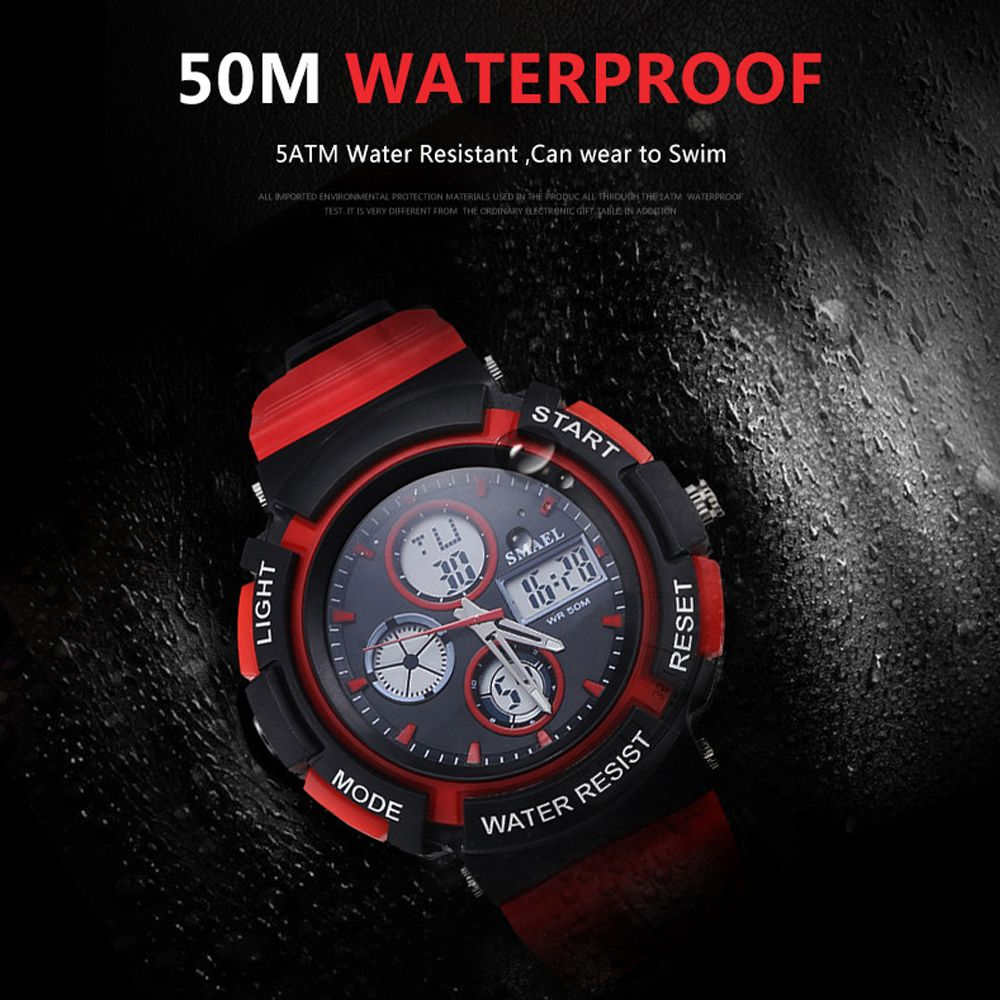 SMAEL 1310 Fashion Multi-Function Waterproof Sport LED Watch for Teenagers