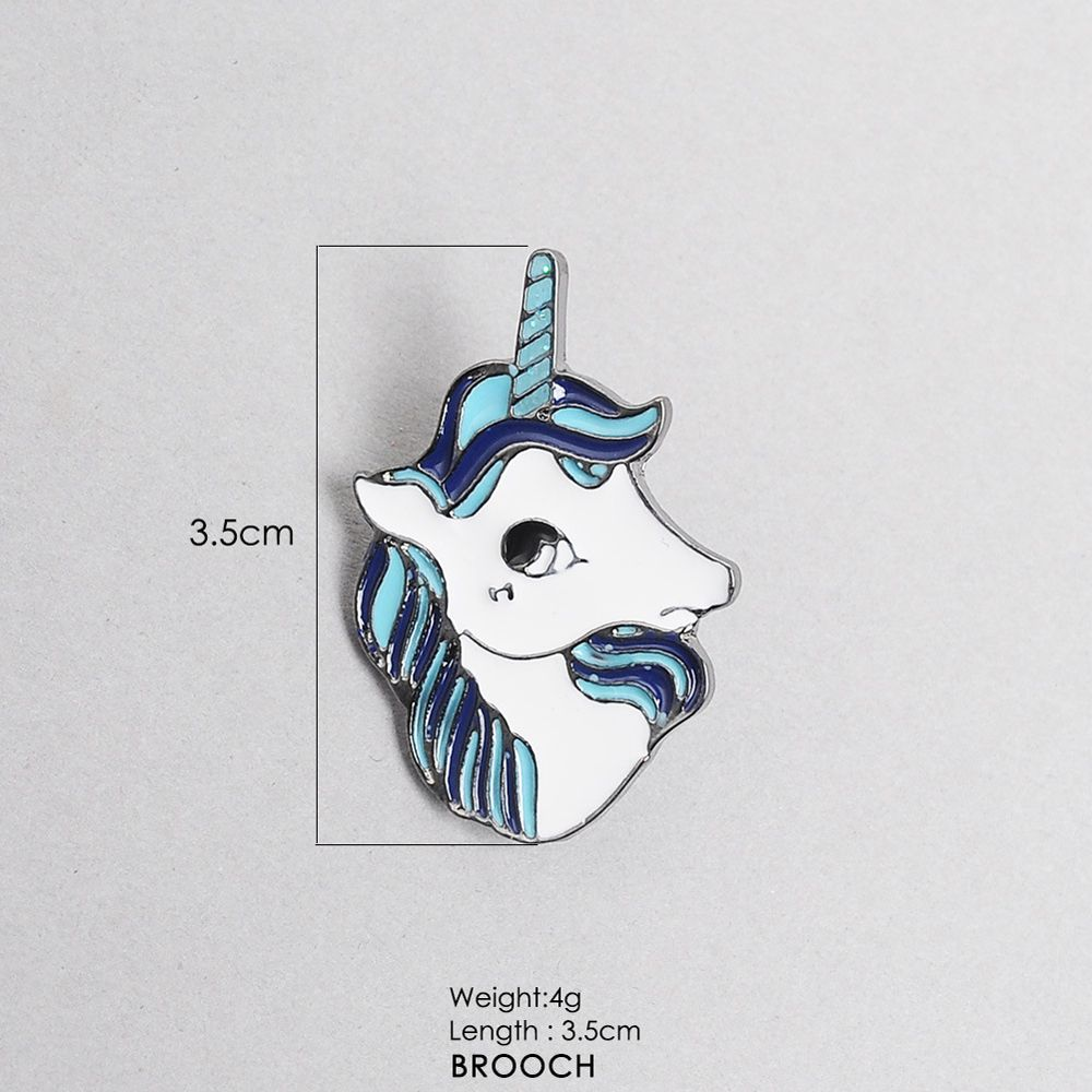 Unicorn Friends Brooch Pins Button Gift Bag for  Jacket Coat Hat  Badge Gift Fashion Jewelry Animal Cartoon