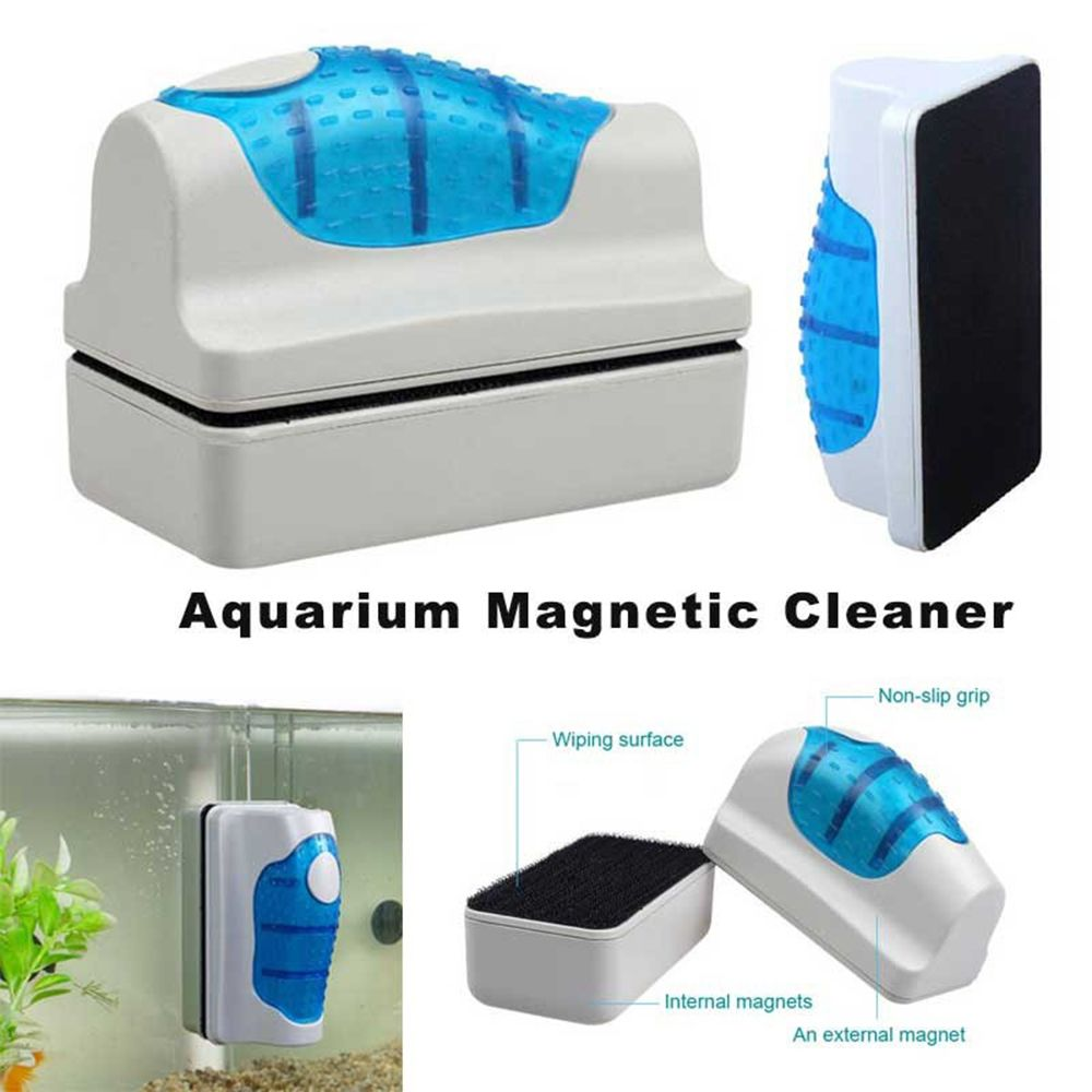 Cleaning Scourer Magnetic Brush Aquarium Fish Tank Glass Algae Scraper Cleaner Floating Curve Dropshipping