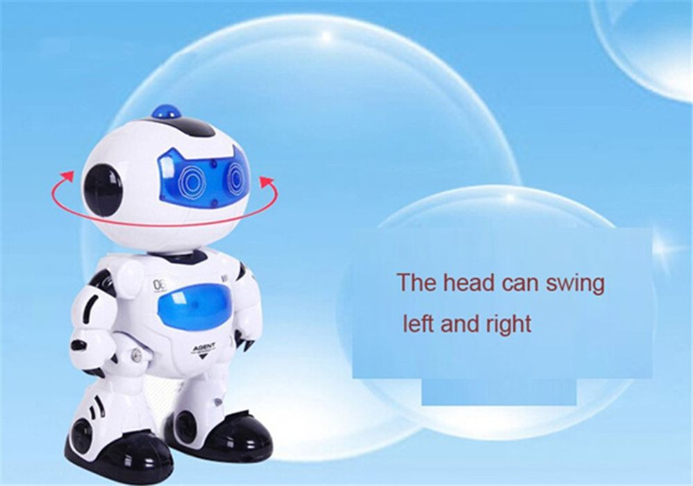 Electric Intelligent Cute Remote Controlled Musical Dancing Robot Walk Lightening Toy