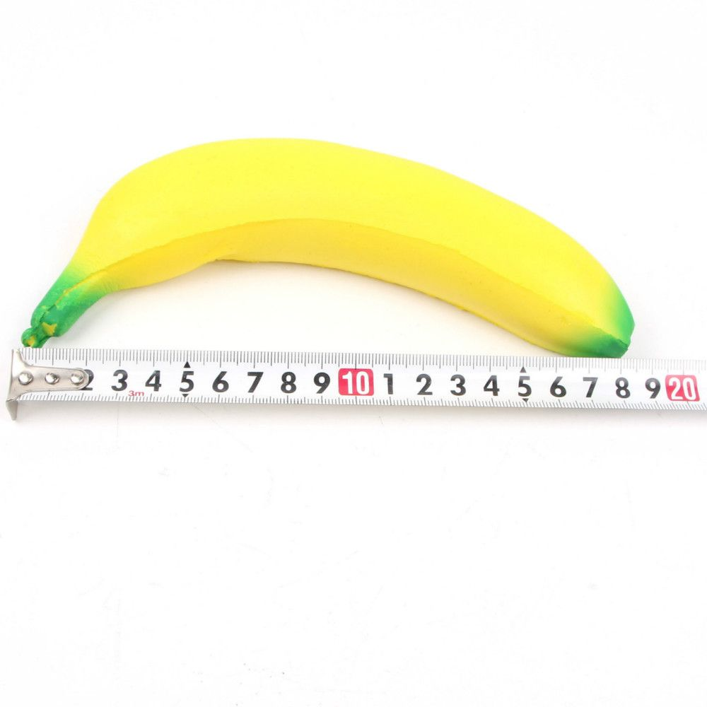 Funny Slow Rebounce Toy Made by Enviromental PU Material Replica Banana for Different Age Group 1pc