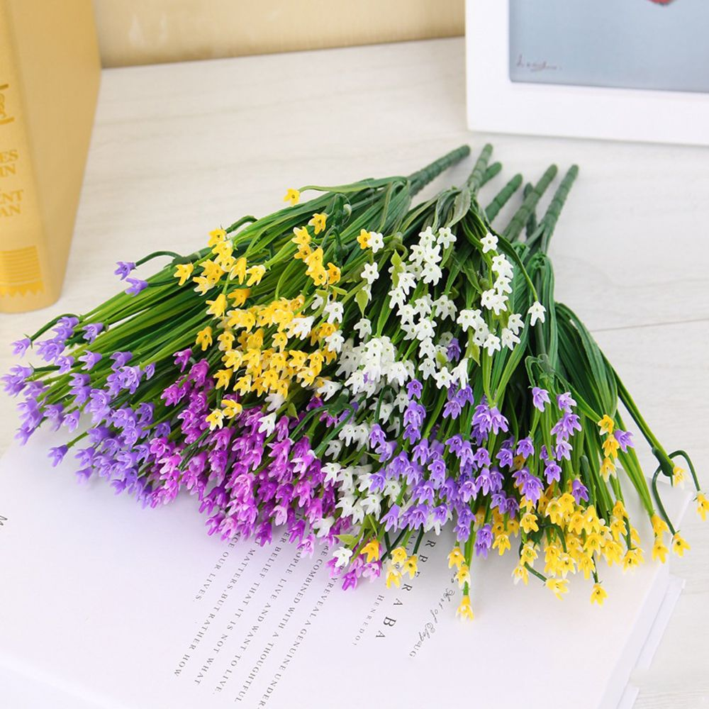4 PCS Artificial Flower Coffee House Office Home Wedding Decoration Plastic Cloth Flowers Cheap