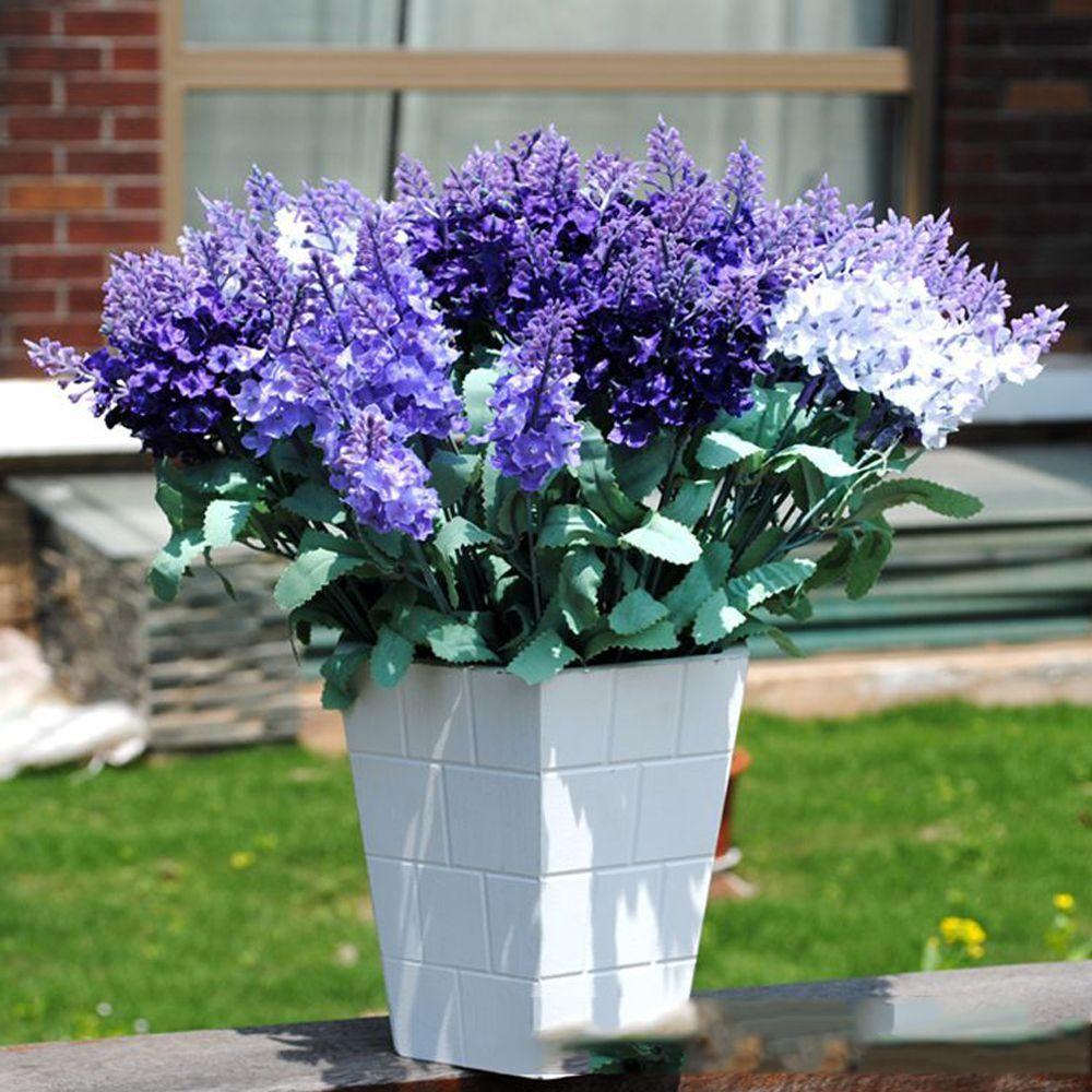 5 Pcs Artificial Lavender Flower Bouquet Multicolor Flowers for Wedding Wreath Decoration