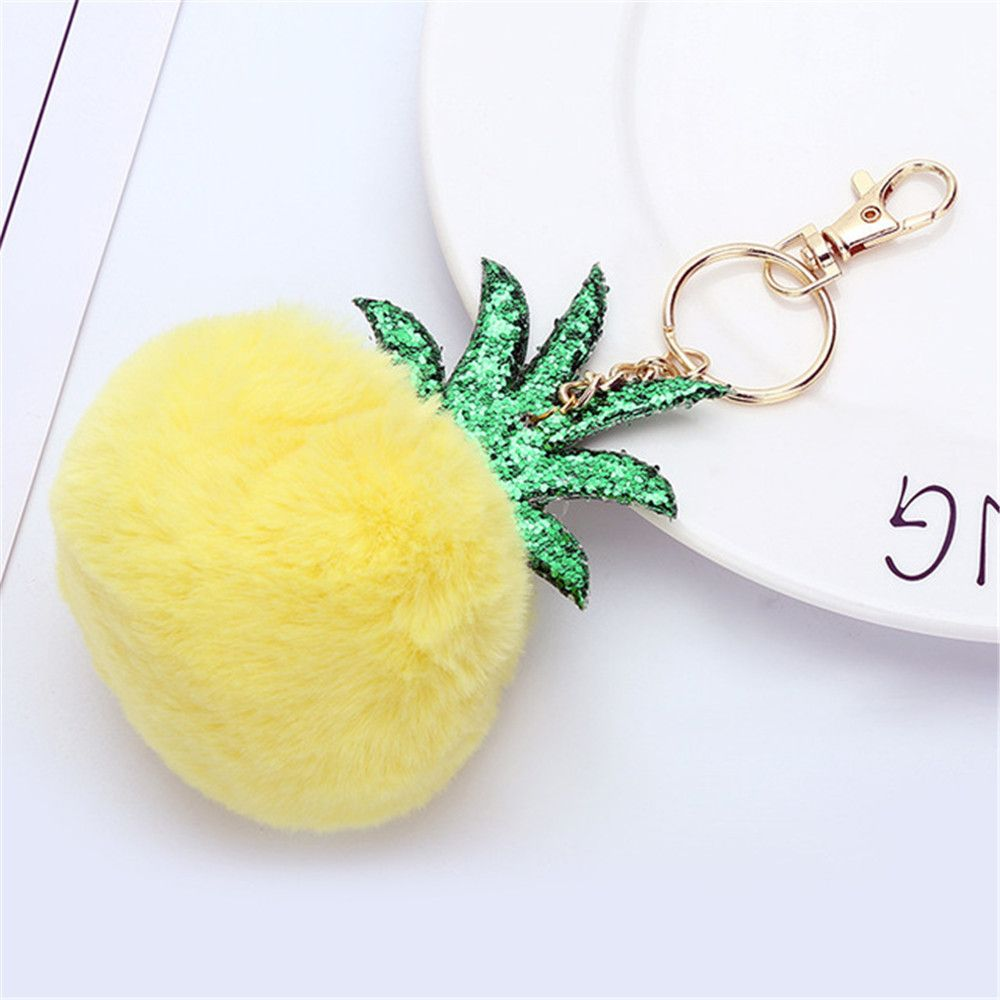 Fashion Small Pineapple Cartoon Plush Pendant New Key Chain Toys