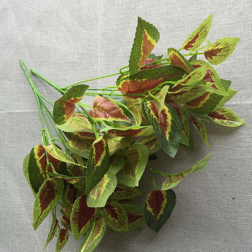 4 Pcs Artificial Plants Simulation Green Grass Plant Garden Decorative Fake Leaf Arrangement Store Home Dest Rustic Deco