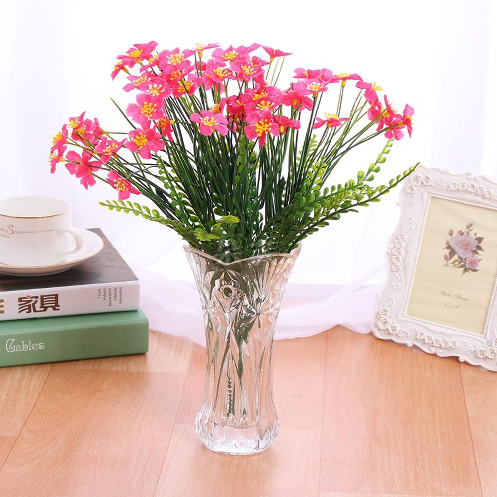 4 PCS Artificial Green Plants Grass Fake Floral Plastic Flowers For Office Hotel Home Wedding Table Decoration