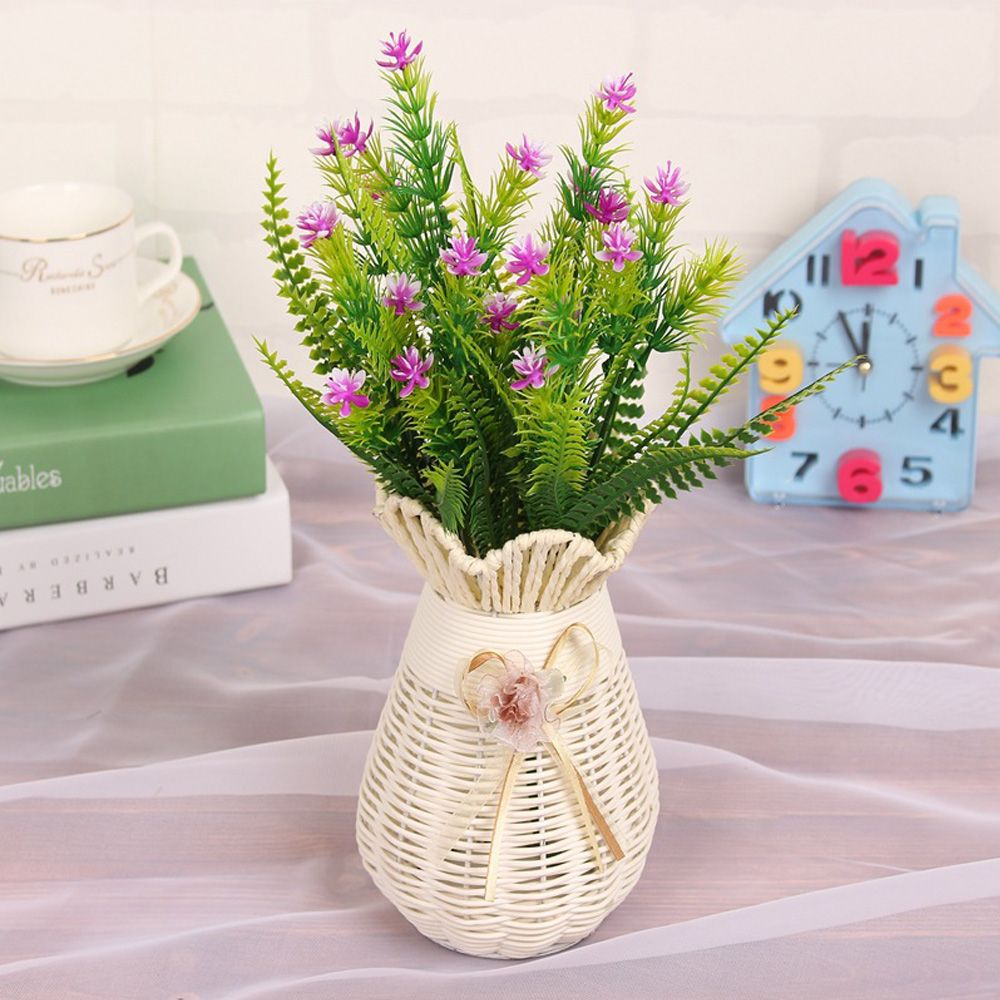 4 Pcs Green Grass Plants Artificial Flower Babysbreath Simulation Flower Wedding Decoration for Home Party Office