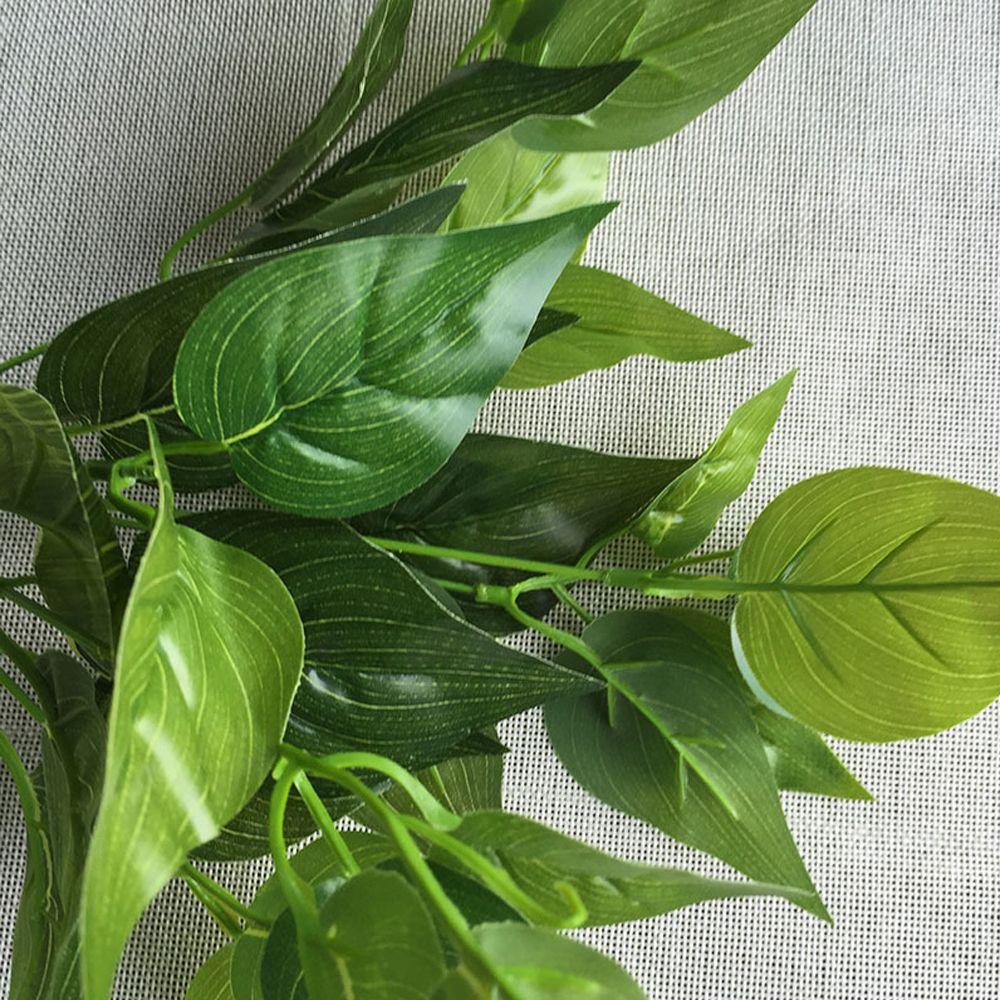 4 Pcs Artificial Plants Green Money Plant Leaf Real Touch Simulation Green Radish Plants Bouquet Green Wall Shop Decorat