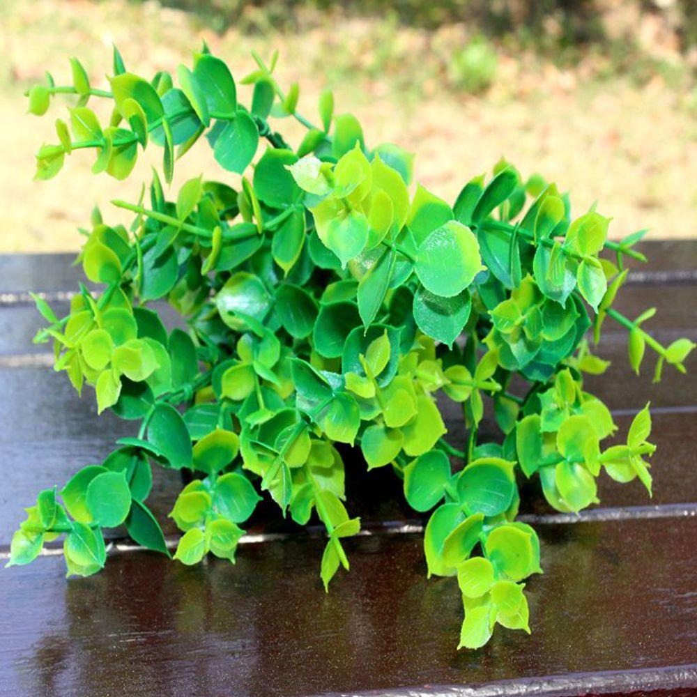 5 Pcs Artificial Plants Decorative Simulation Eucalyptus Grass Home Table Decoration Flower Accessories
