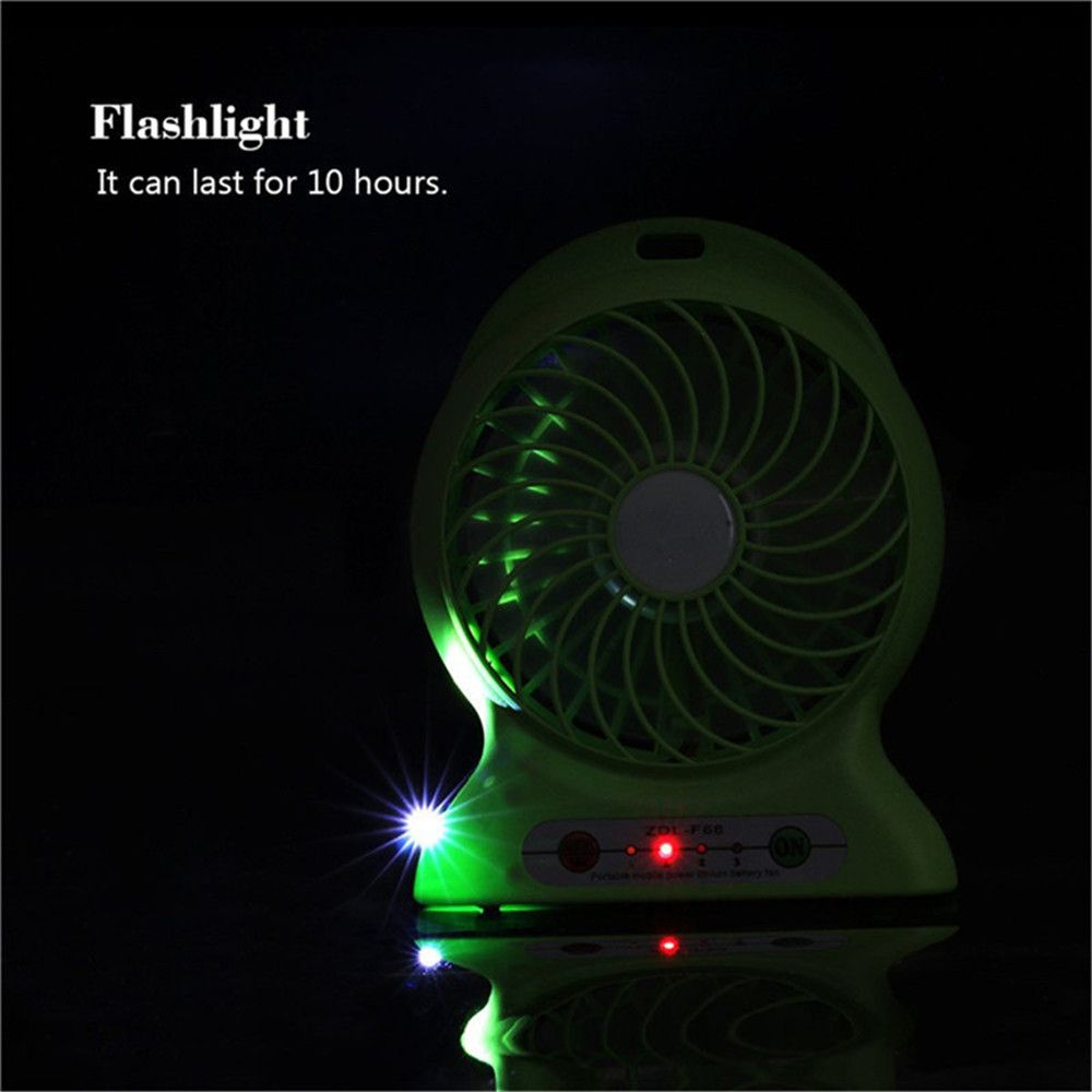 Portable Fan Mini Usb Rechargeable Fan with Power Bank and Flash Light for Traveling Fishing Camping Hiking Backpacking