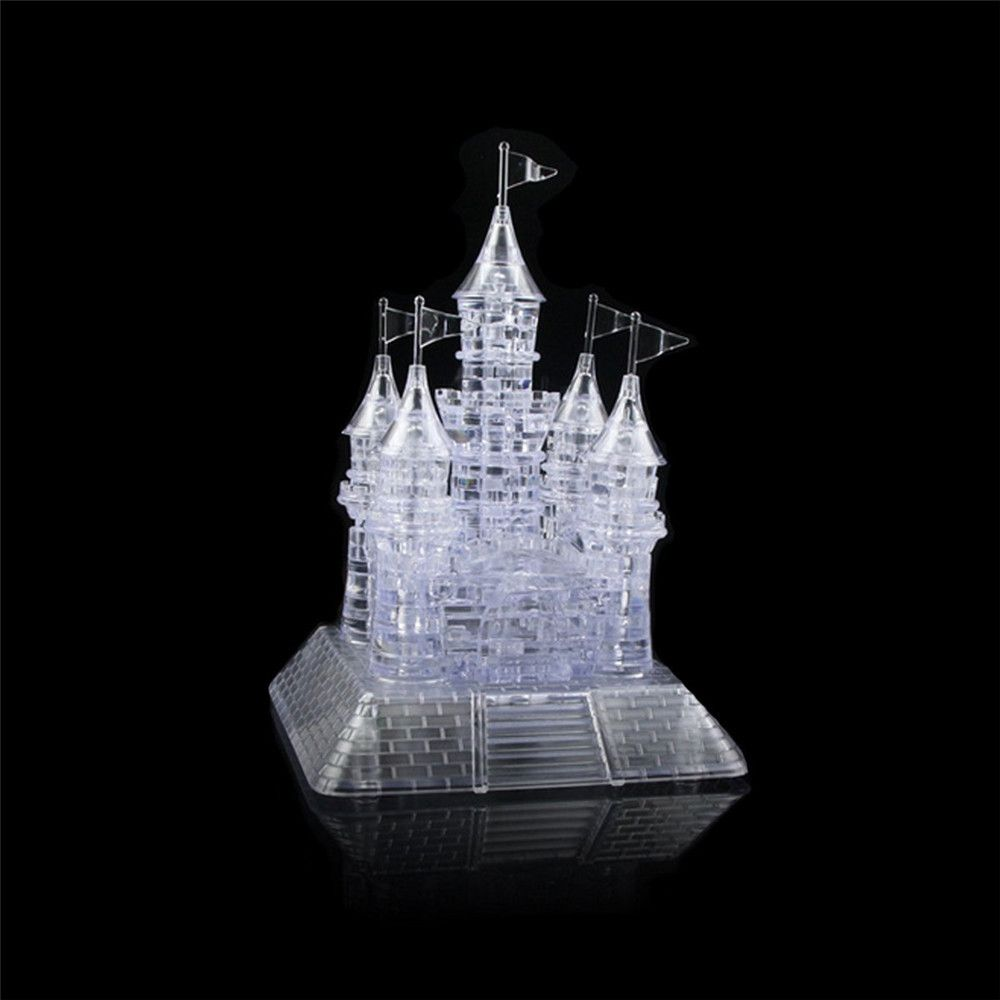 Children Puzzle Toy Crystal Castle Building Block with Light Music