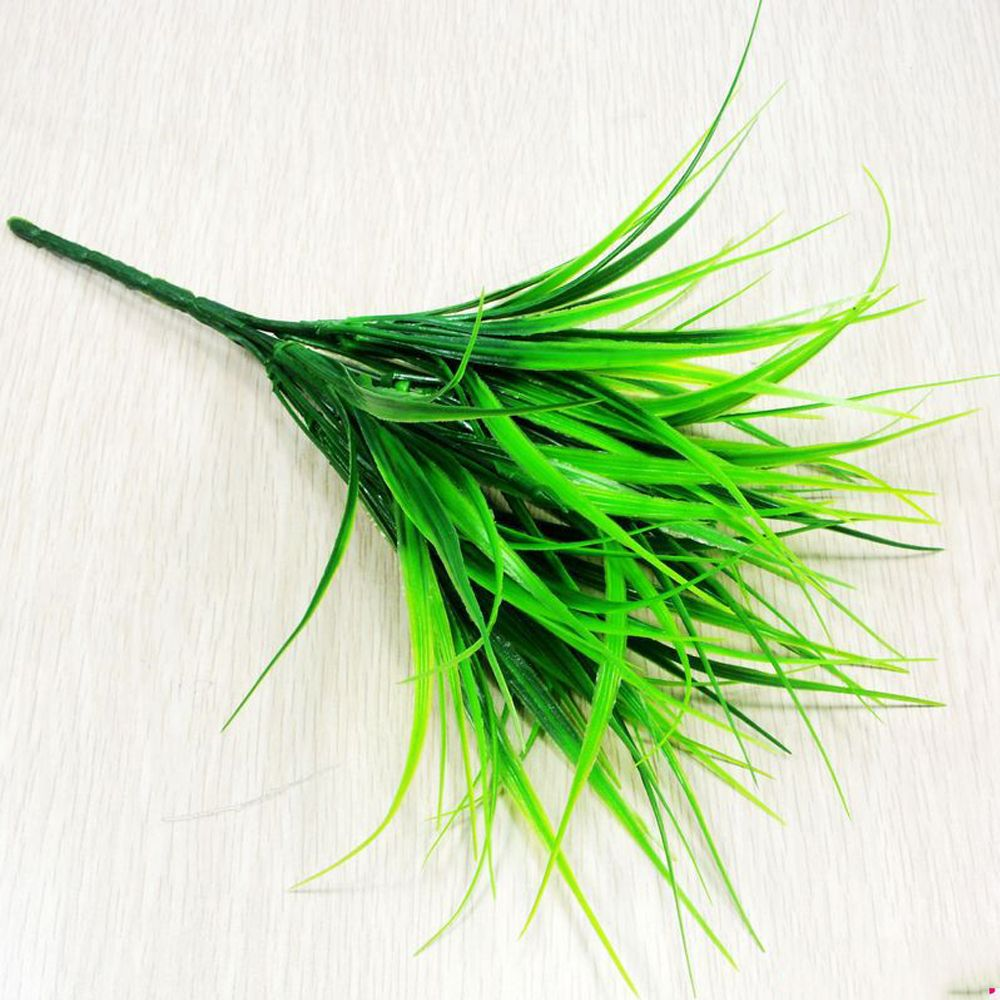 6 Pcs Green Plant Leaves Grass Decorative Flowers Artificial Flowers For Home Decoration Artificial Grass