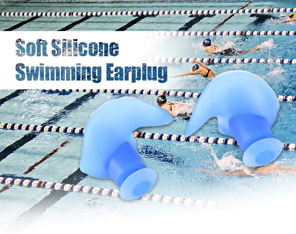 Professional Waterproof Soft Silicone Swimming Earplugs Adult Diving comfortable Anti-Noise EarPlug