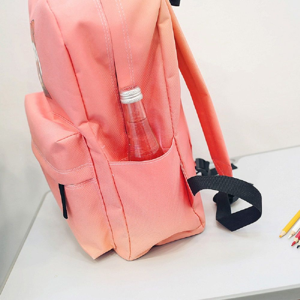 Menghuo 2018 Simple Canvas Backpack Students School Bag Women Girl Rucksack Mochila