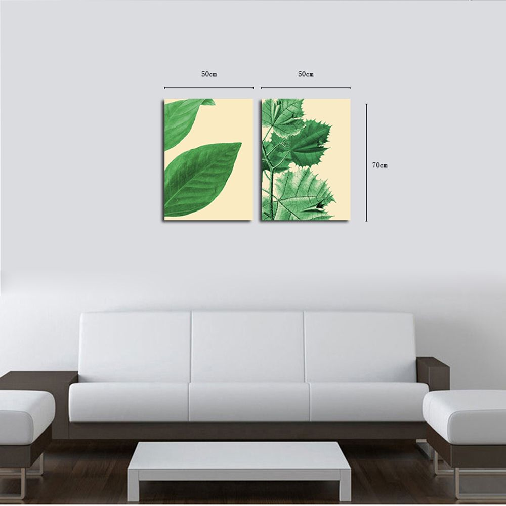 QiaoJiaHuaYuan The Frame of the Frame of Unframed Canvas is Decorated With Small and Fresh Plant Leaves