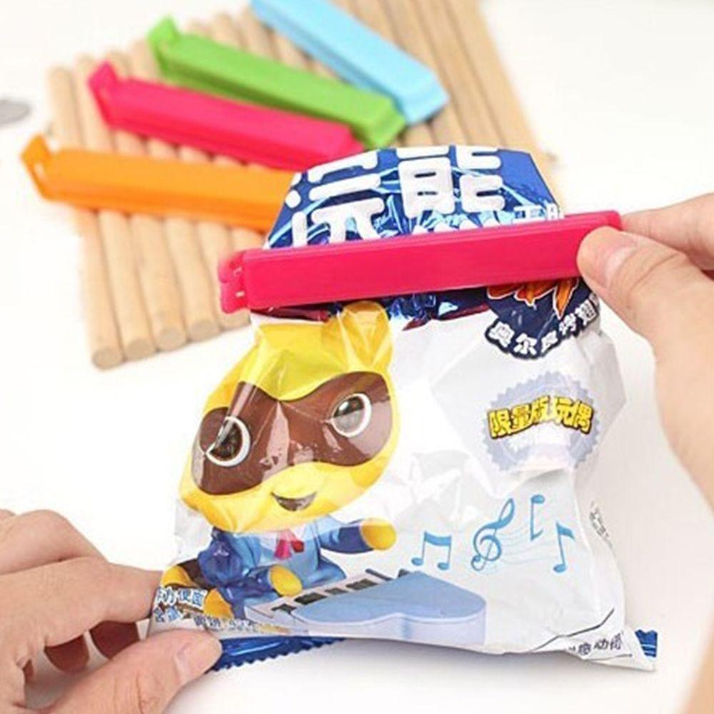 5PCS Food Snack Storage Seal Sealing Bag Clips Sealer Clamp Plastic Keeping Food Fresh Sealing Clips Kitchen Tools