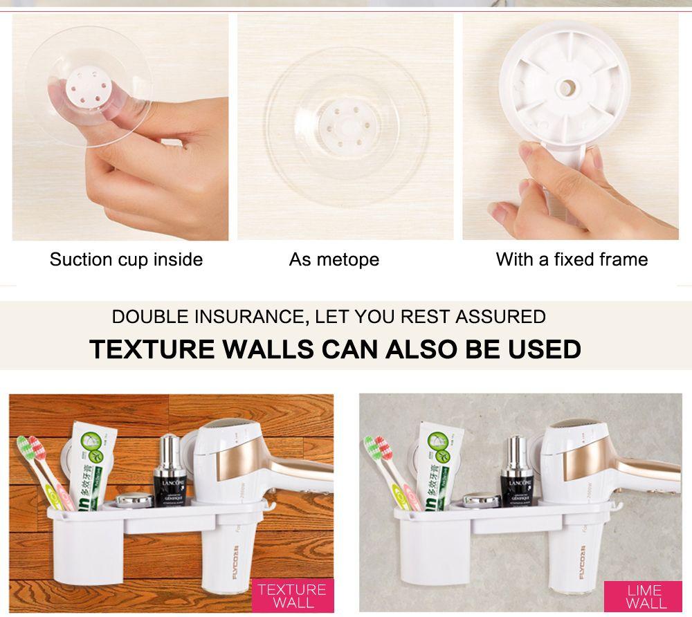 Plastic Storage Rack Holder Kitchen Rack Bathroom Wall Storage Rack Electric Hair Plywood Comb Hair Dryer Holder