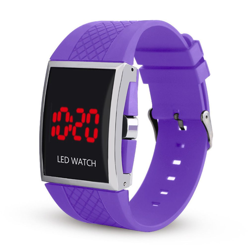 LED Digital  Military Outdoor Rectangle Unisex Electronic Casual Men Watch