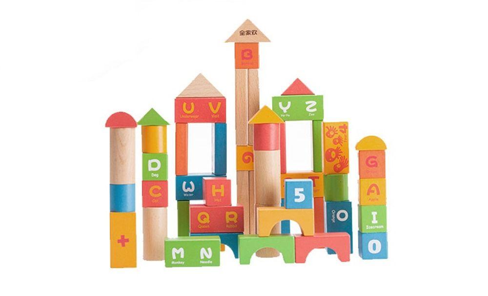 Wood Building Blocks for Children
