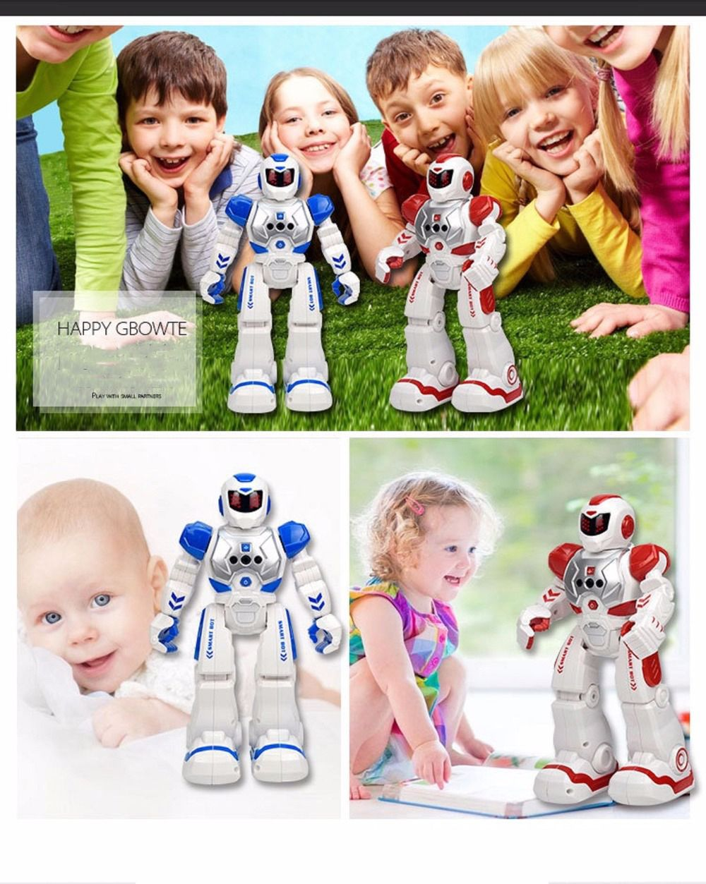Remote Control Intelligent Robot Gesture Sensing Programming Charging Children Dancing Fighting Defentor Boys Gift