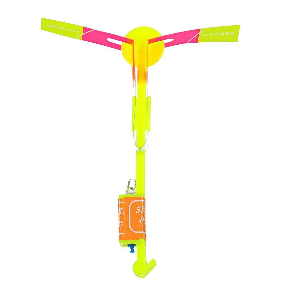 LED Light-Up Rubber Slingshot Helicopter Toys for Kids 50PCS