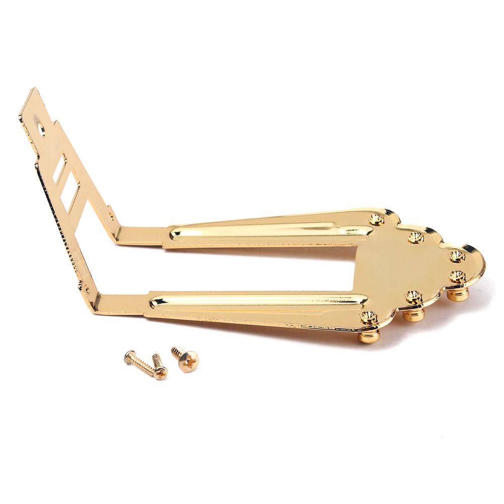 6 Strings Tailpiece Bridge for Jazz Archtop Electric Acoustic Guitar Parts