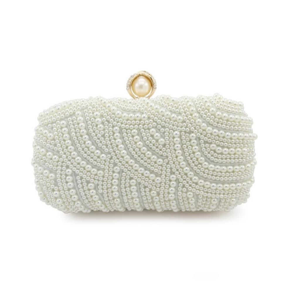 Handbags Clutches With Pearls For Wedding Special Occasion in More Colors