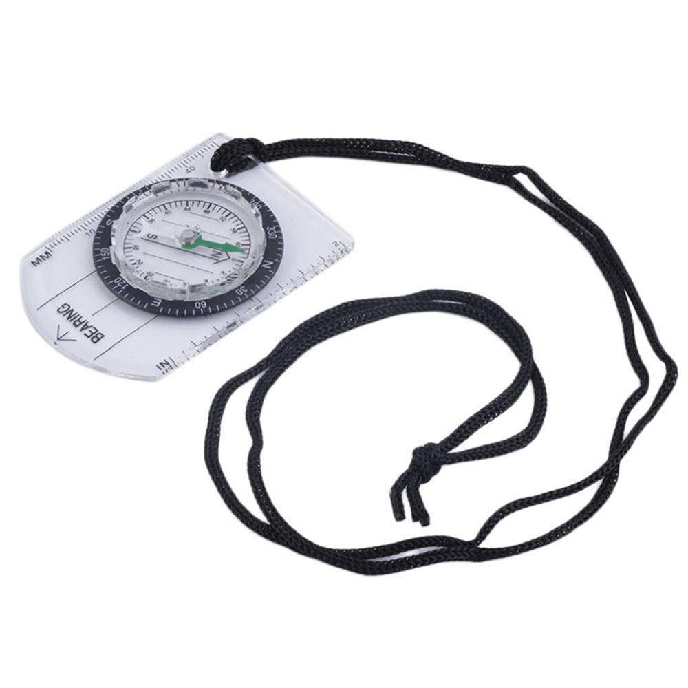 Mini Baseplate Compass Map Scale Ruler for Outdoor Camping Hiking