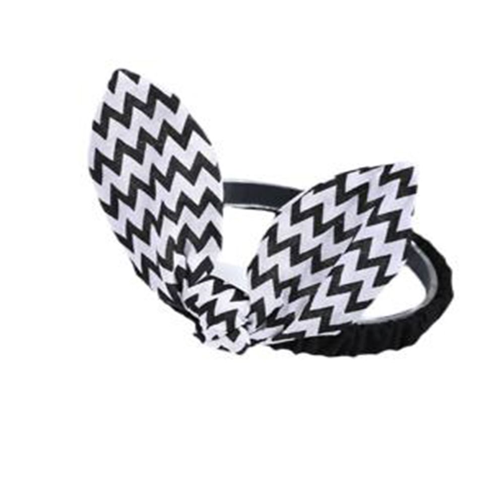 Wavy Striped Bunny Ears for Children Hair Band