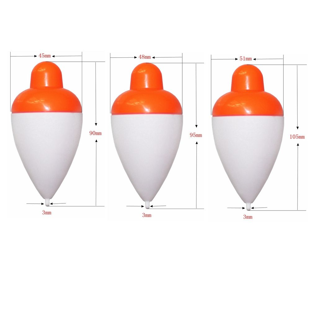 Sencart 3PCS LED Luminous Fishing Float Buoy Units of  LED Electronic Vertical Multi Fishing Float + Battery CR2