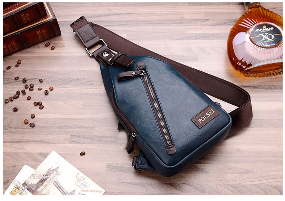 POLSKI Send Wallet Casual Men'S Shoulder Couple Sports Messenger Trend Chest Bag